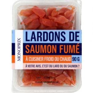 Monoprix Lardons de saumon fumés - La barquette de 90g