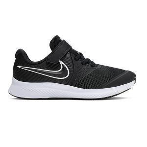 Nike Chaussures de sport Star Runner 2 GS à lacets et scratch Noir - Taille 28
