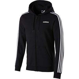 Adidas E 3S Fz FL Veste Homme, Noir/Blanc, FR : L (Taille Fabricant : L)