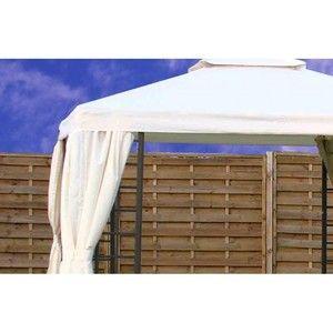DCB Garden Toile de toit pour tonnelle T08 aluminium 3x3m écrue