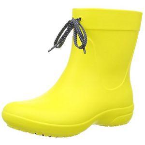 Crocs Freesail Shorty Rain Boots, Femme Bottes, Jaune (Lemon), 36-37 EU