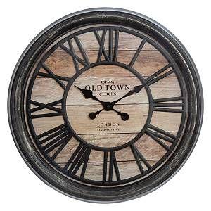 """Atmosphera Horloge Murale Design """"Relief"""" 50cm Naturel"""