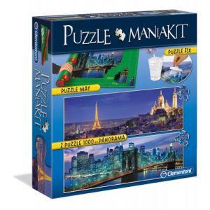 Clementoni Mania Kit 2 puzzles + 1 tapis de puzzle 1500 pièces