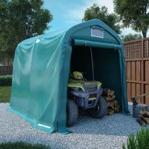 VidaXL Tente de garage PVC 2,4 x 2,4 m Vert