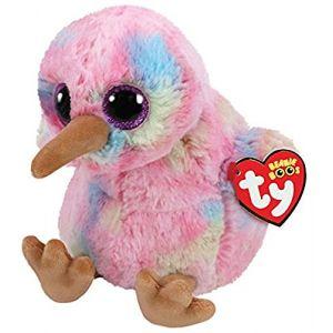 Ty Beanie Boo's-Peluche Kiwi l'oiseau DE 23 cm 36415, Multicolore