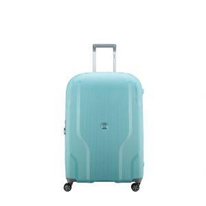 Delsey Valise extensible à 4 roues Clavel Taille L 70 cm Gris Bleu