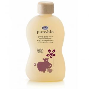 Chicco pure.bio - Gel douche et shampoing