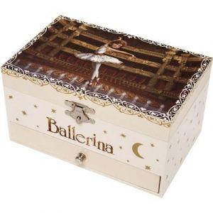 Trousselier Boîte à bijoux musicale phosphorescente Ballerina