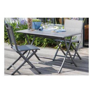 Proloisirs Thema - Chaise de jardin pliante en aluminium et textilène