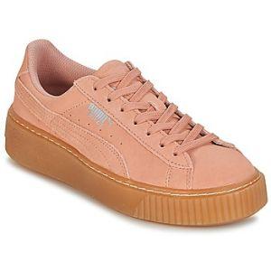 Puma Suede Platform Jewel Jr, Sneakers Basses Mixte Enfant, Beige (Peach Beige-Peach Beige), 39 EU