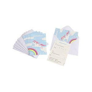 Dynastrib 6 invitations et 6 enveloppes Licorne