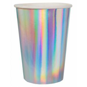 10 Gobelets en carton iridescents 7,8 x 9,7 cm Taille Unique
