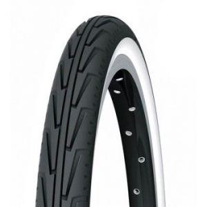 Michelin City J, Pneu Vélo Junior, Tringle Rigide, Noir/Blanc, 20 x 1.75