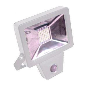 Fox Light - Projecteur plat SMD à détection infrarouge 20W 1400 Lm 6500K IP44 Coloris blanc