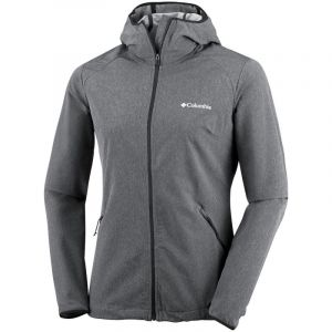 Columbia Femme Veste Softshell à Capuche, Heather Canyon Softshell Jacket, Polyester, Noir, Taille: S, WL1173