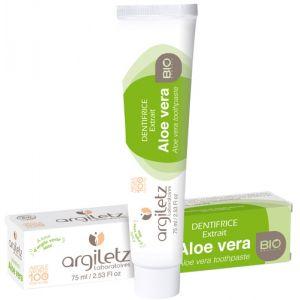 Argiletz Dentifrice Bio à l'extrait d'Aloé Vera (75 ml)
