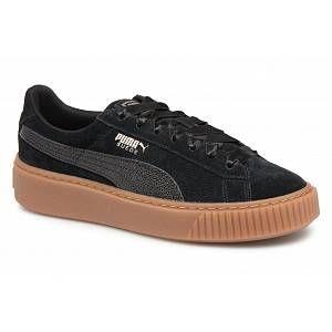 Puma Suede Platform Bubble Wn's, Sneakers Basses Femme, Noir Black, 39 EU