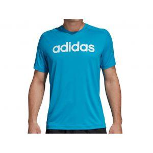 Adidas Tee-shirt Design2Move Climacool Logo bleu Bleu - Taille L