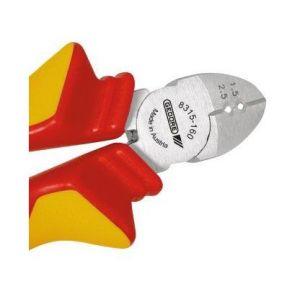 Gedore Pince coupante diagonale VDE avec manchon d'isolation 160 mm - VDE 8315-160 H