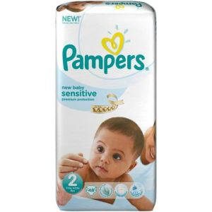 Pampers New Baby Sensitive taille 2 Mini (3-6 kg) - 48 couches