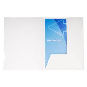 Exacompta 635017E - Boîte de 20 chemises de présentation CHROMOLUX, coloris blanc
