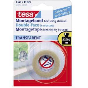 Tesa Ruban adhésif double transparent - 1.5 m x 19 mm