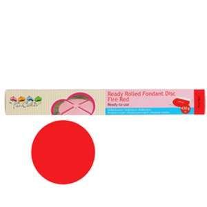 FunCakes Pâte à sucre prête à dérouler Rouge Feu 430 g