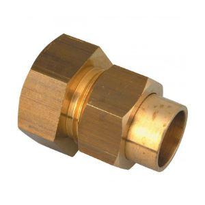 Union femelle droit 3 pièces à joint sphéro-conique filetage 20x27mm