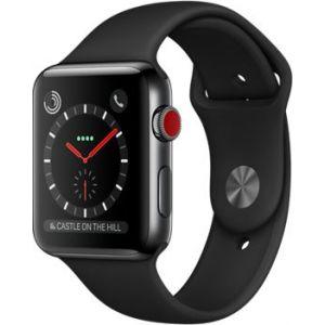 Apple Watch 42mm Series 3 (GPS Cellulaire) - Boîtier Acier bracelet Sport ou Milanais