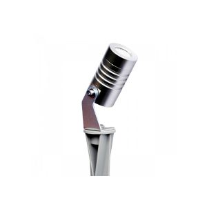 Lumihome Spot piquet extérieur LED COB 3W CHROME | blanc-froid-6500k