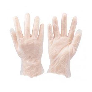 Silverline 675052 - Paquet de 100 gants vinyle - Grande taille