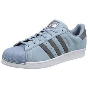 Adidas Superstar, Baskets Basses Homme, Bleu (Tactile Blue/Onix/Onix), 41 1/3 EU