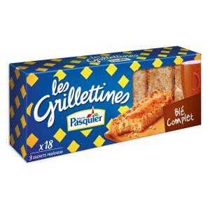 Pasquier Tartines grillées blé complet - Le paquet de 18, 242g