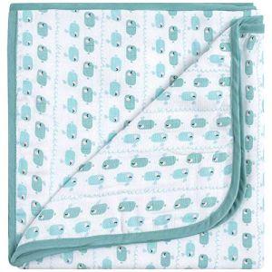 Emma & Noah Couverture pour bébés, extra douce et moelleuse, 100% coton, 120 x 120 cm, à 4 couches, ideale comme couverture pour poussette, plaid, doudou, couverture de naissance / d'allaitement
