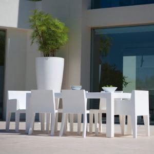 Vondom Table de jardin rectangulaire indoor-outdoor Jut en polyéthylène 180 x 90 x 75 cm