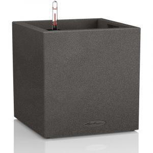 Lechuza Pot carré noir gamme Canto color dimensions L40xl40xH40,8 cm