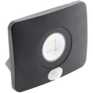Elexity Projecteur LED étanche 20W avec détecteur noir