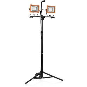 Smartwares Lampe de chantier FCL-80114 avec trépied – 2 LEDs 30 W – 4 800 lumens