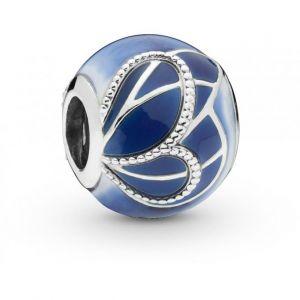 Pandora Charm Animaux 797886ENMX - Charm Aile de Papillon Bleue en Argent