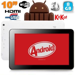 """Yonis Y-tt19g8 - Tablette tactile 10"""" HDMI 3D 8 Go sous Android 4.4 KitKat"""