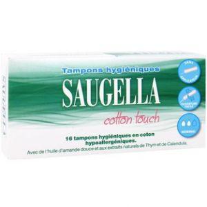 Saugella Cotton touch - Tampons hygiéniques mini, 16 unités