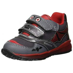Geox B Todo A, Sneakers Basses bébé garçon, Gris (DK Grey/Red C0047), 27 EU