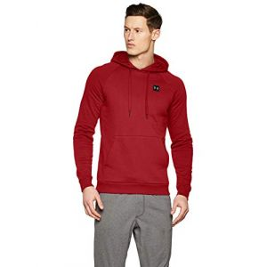 Under Armour Rival fleece po hoodie 1320736 651 homme sweat shirts rouge l