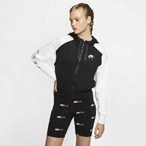 Nike Air Maillot de survêtement Femme, Noir/Gris/Blanc (Black/Birch Heather/White), XXL