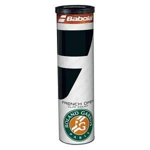 Babolat Tube 4 balles de tennis spéciales terre battue - jaune