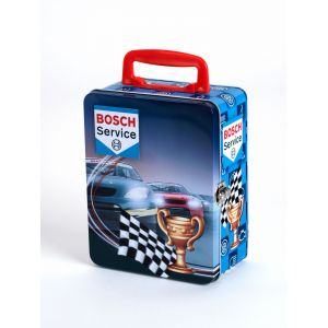 Klein Mallette en métal Bosch Service pour collection de voitures (18 compartiments)