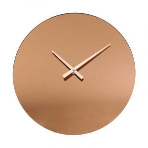 T HOME DECO FACTORY Horloge Murale Miroir F e Cuivre M6