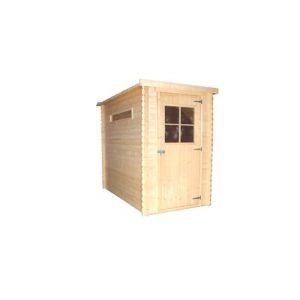 TIMBELA M306 Abri de jardin extérieur bois abri pin épicéa Toit plat H198 x 144 x 239 cm 2,63 m2