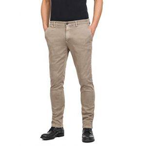 REPLAY Pantalon chino Zeumar slim fit Beige