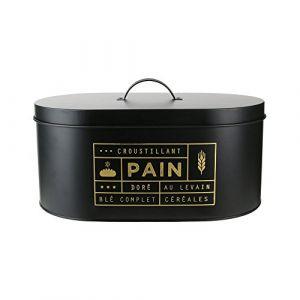 Declikdeco Boîte à Pain Métal Noir CANALI
